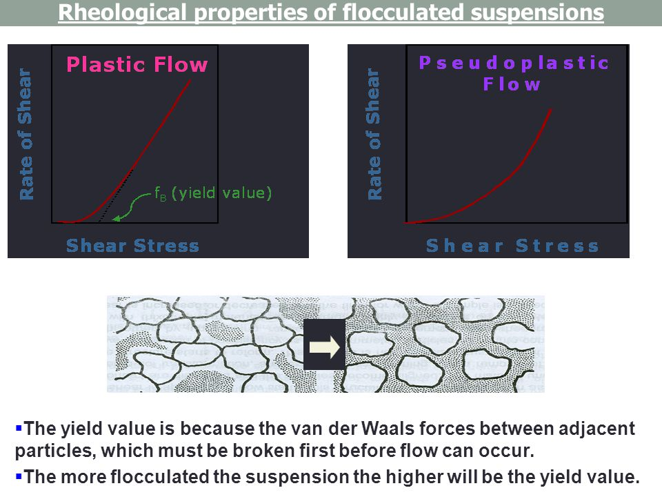Rheological properties of flocculated suspensions