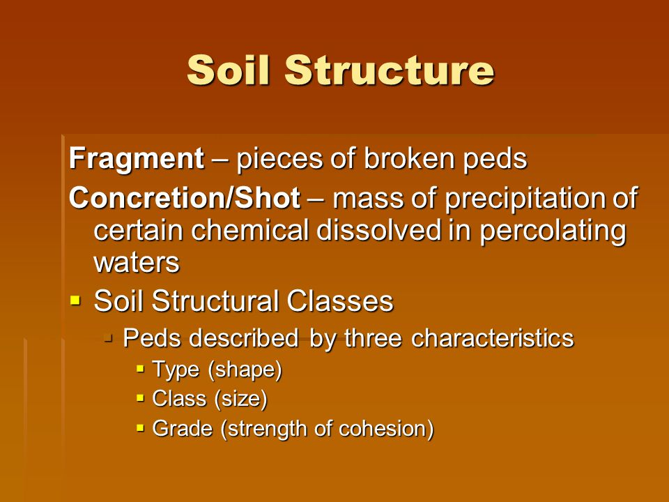 Soil Structure Fragment – pieces of broken peds