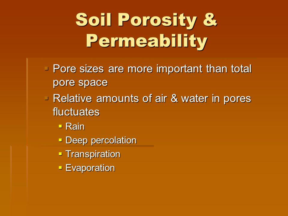 Soil Porosity & Permeability