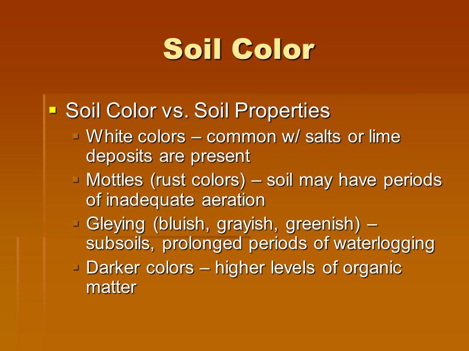 Soil Color Soil Color vs. Soil Properties