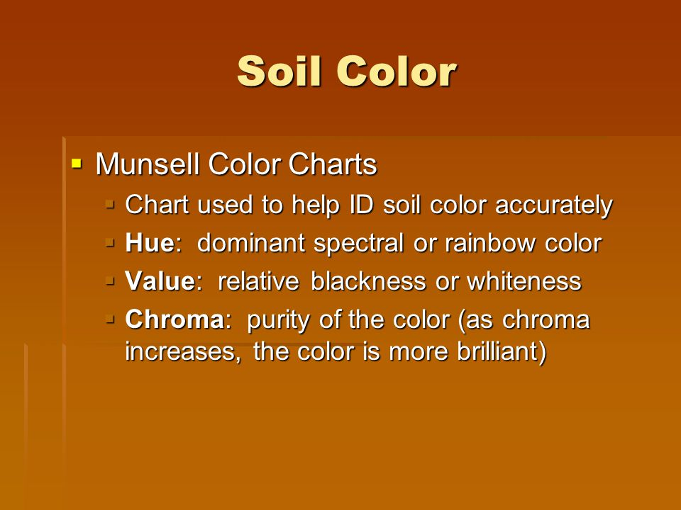 Soil Color Munsell Color Charts
