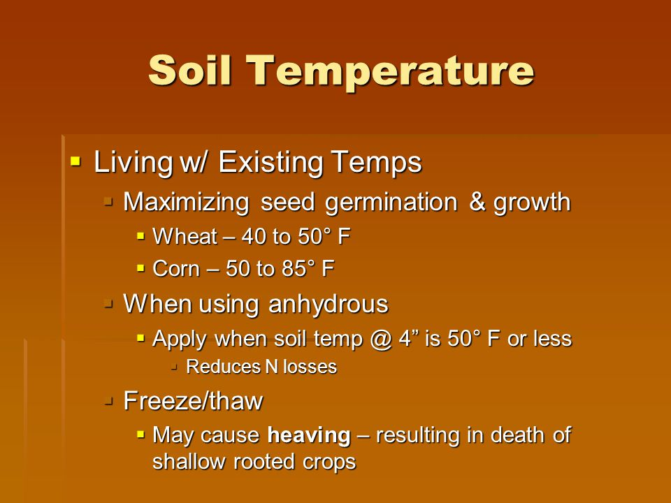Soil Temperature Living w/ Existing Temps