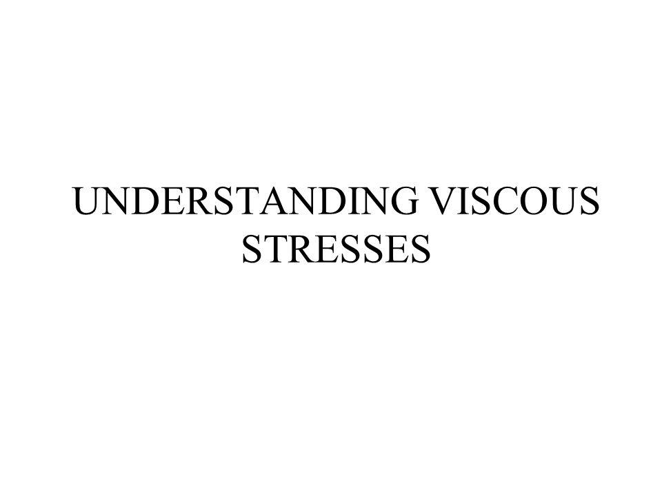 UNDERSTANDING VISCOUS STRESSES