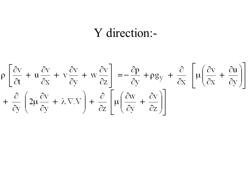Y direction:-