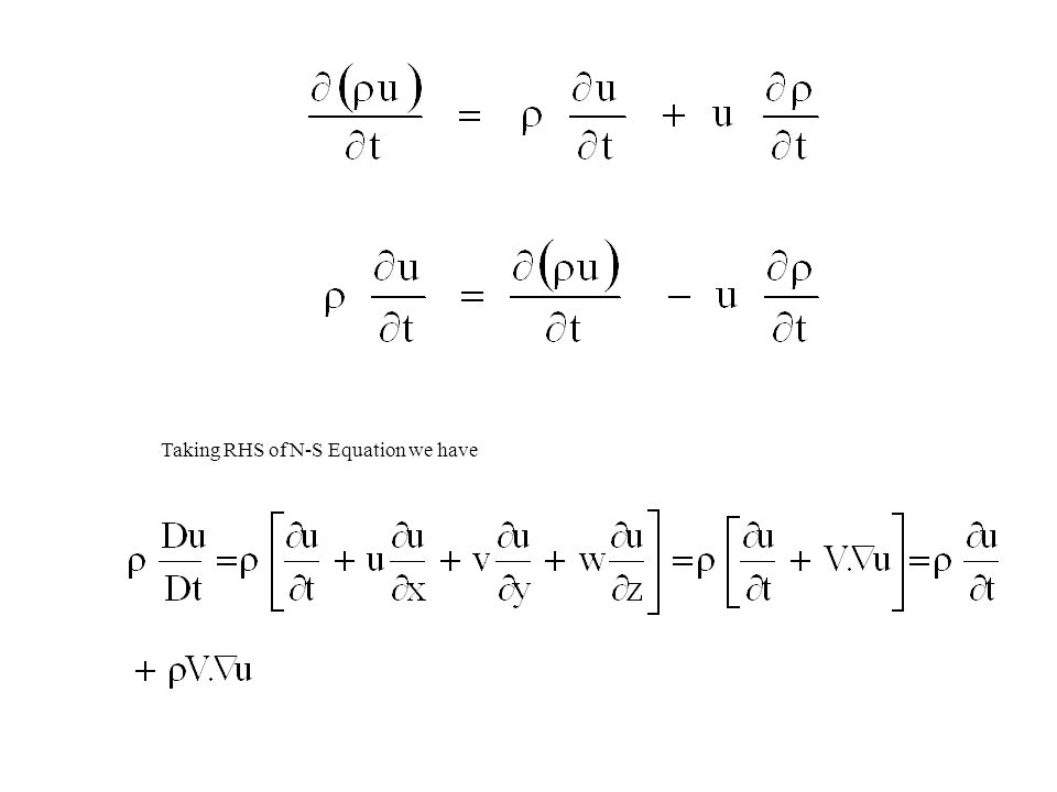 Taking RHS of N-S Equation we have
