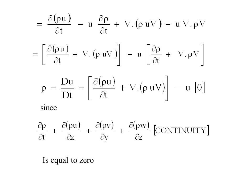 since Is equal to zero