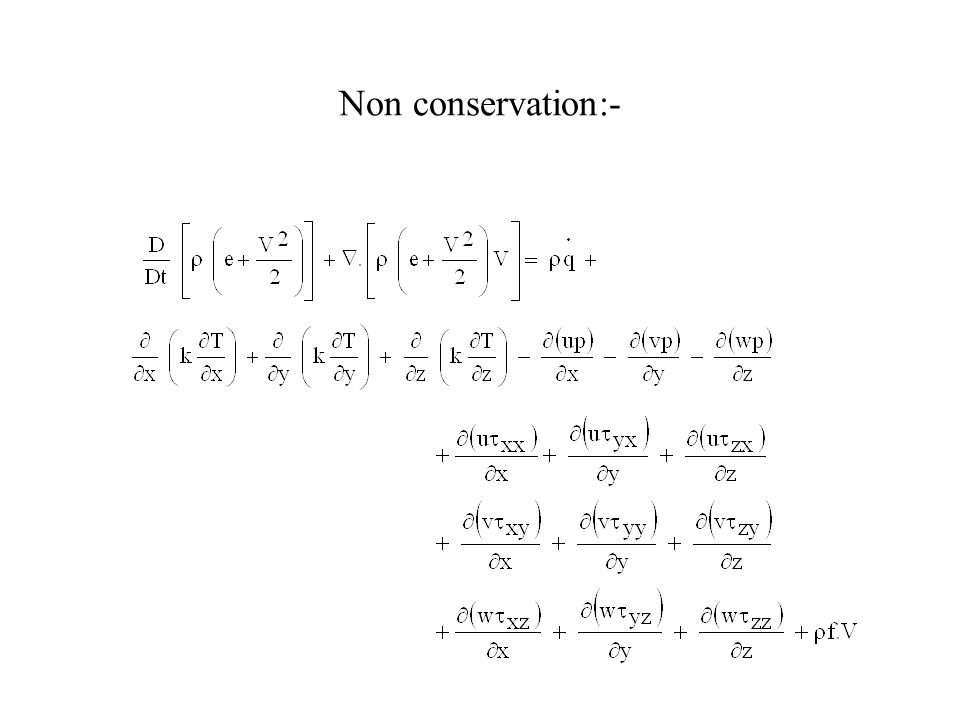 Non conservation:-