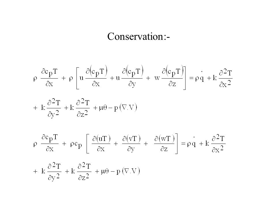 Conservation:-
