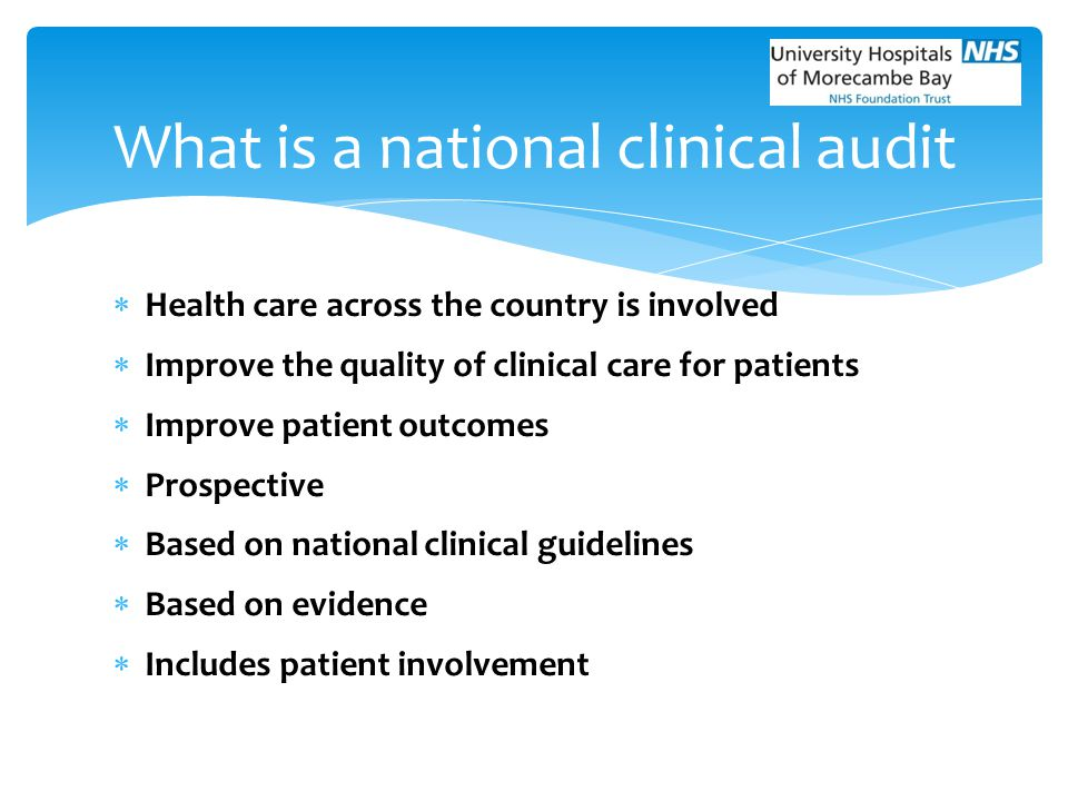 What is a national clinical audit
