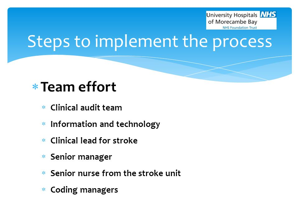 Steps to implement the process