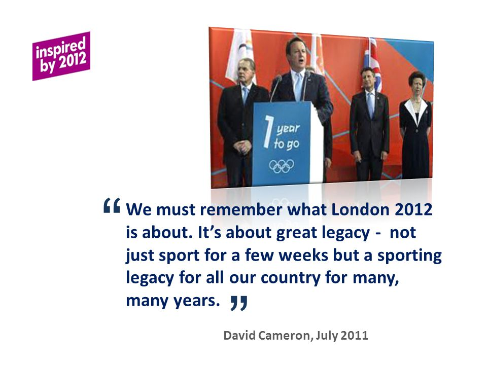 We must remember what London 2012