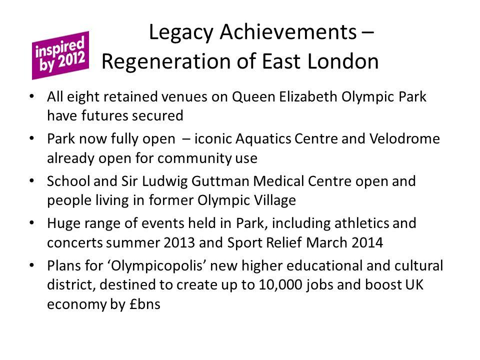 Legacy Achievements – Regeneration of East London