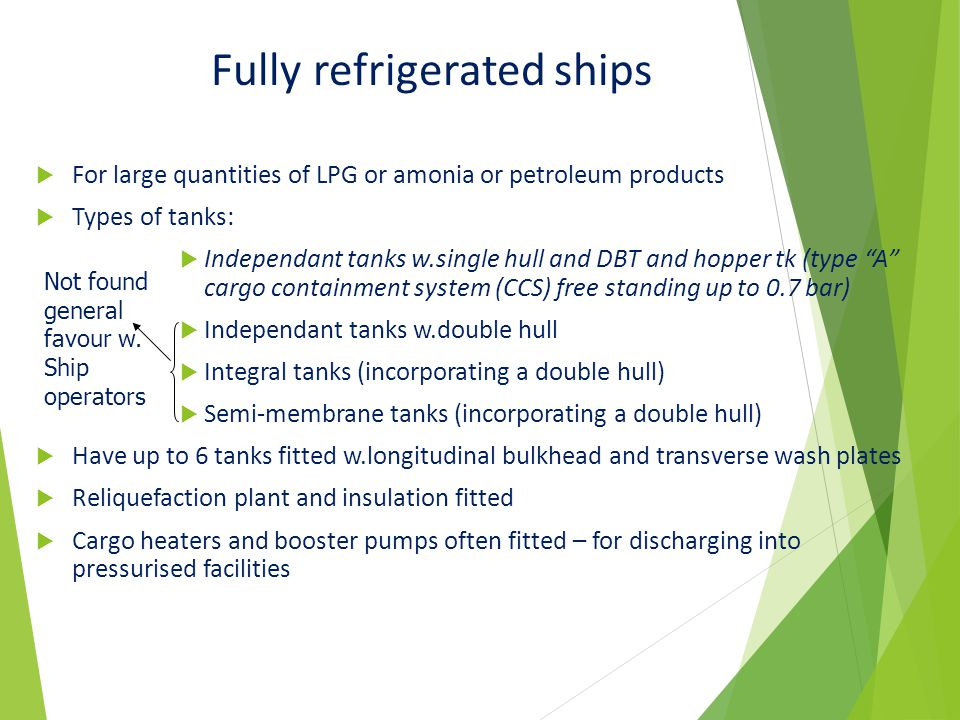 Fully refrigerated ships