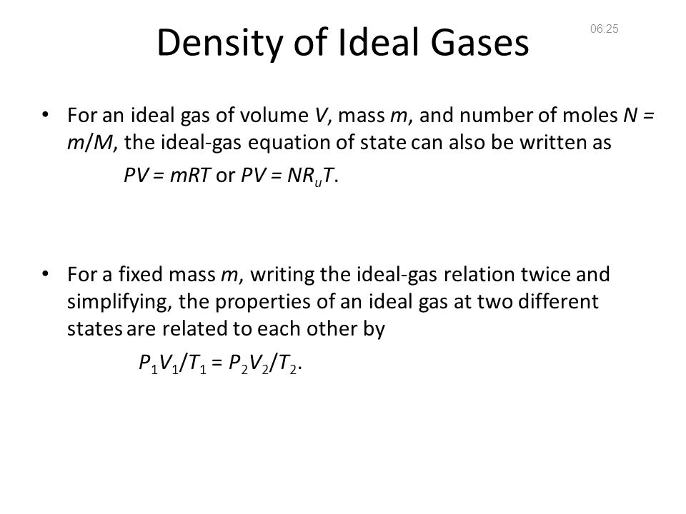 14:36 Density of Ideal Gases.