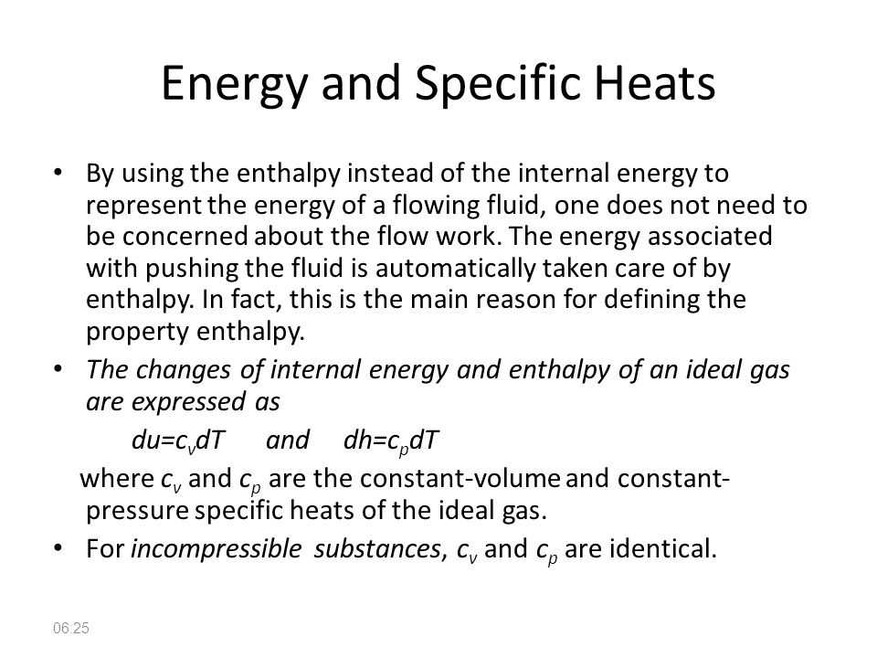 Energy and Specific Heats