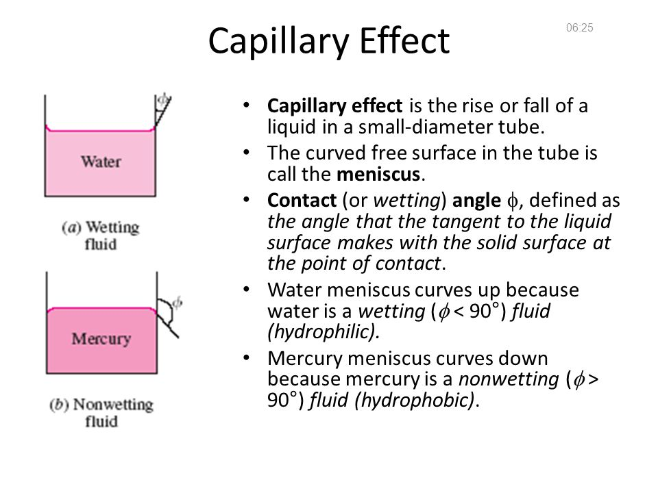 14:36 Capillary Effect. Capillary effect is the rise or fall of a liquid in a small-diameter tube.