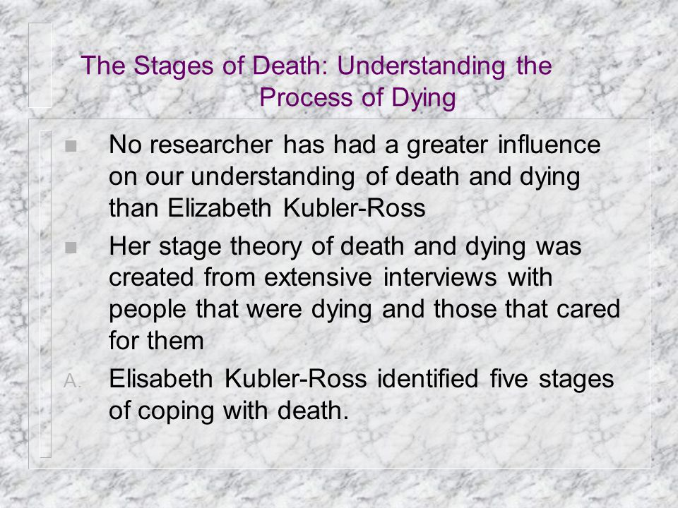 The Stages of Death: Understanding the Process of Dying