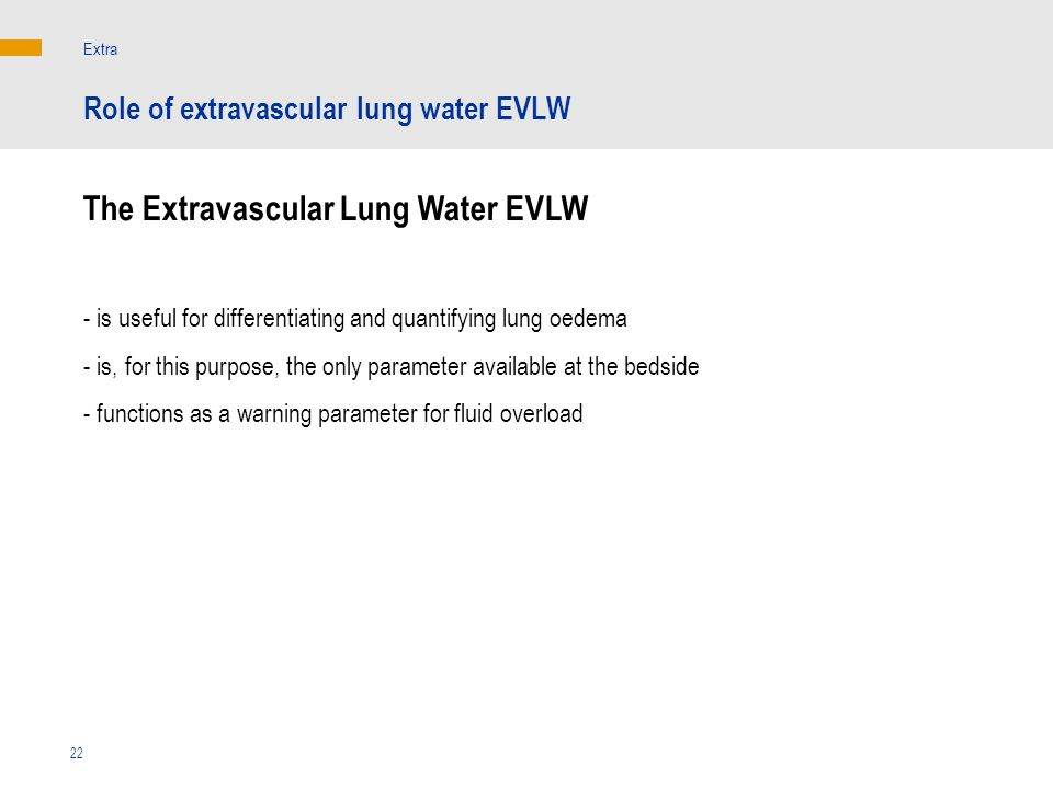 The Extravascular Lung Water EVLW