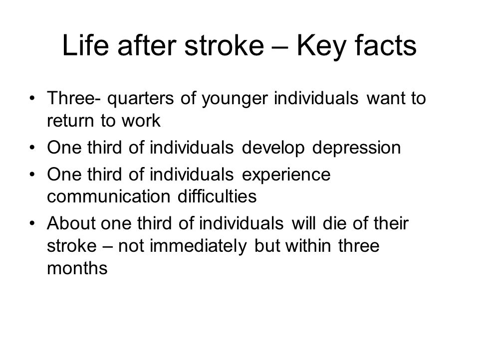 Life after stroke – Key facts