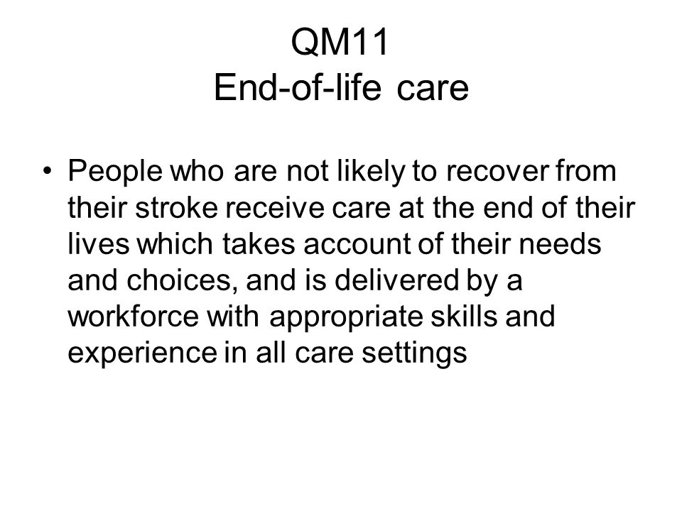 QM11 End-of-life care