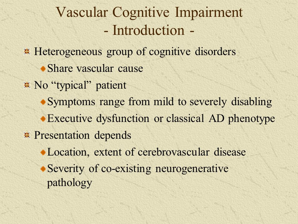 Vascular Cognitive Impairment - Introduction -