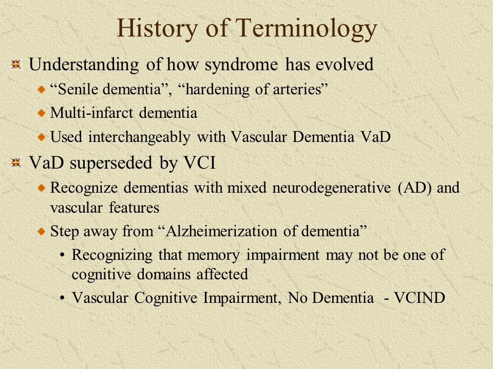 History of Terminology