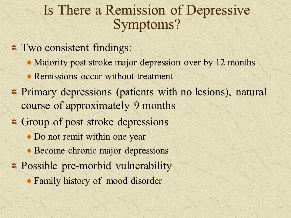 Is There a Remission of Depressive Symptoms