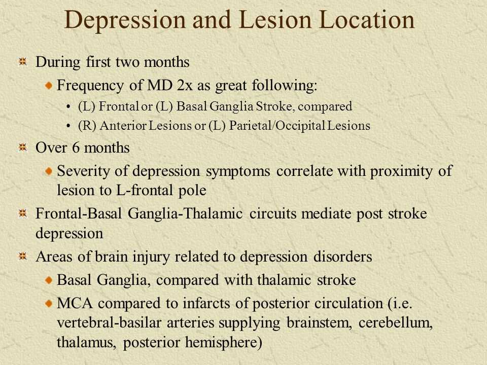 Depression and Lesion Location