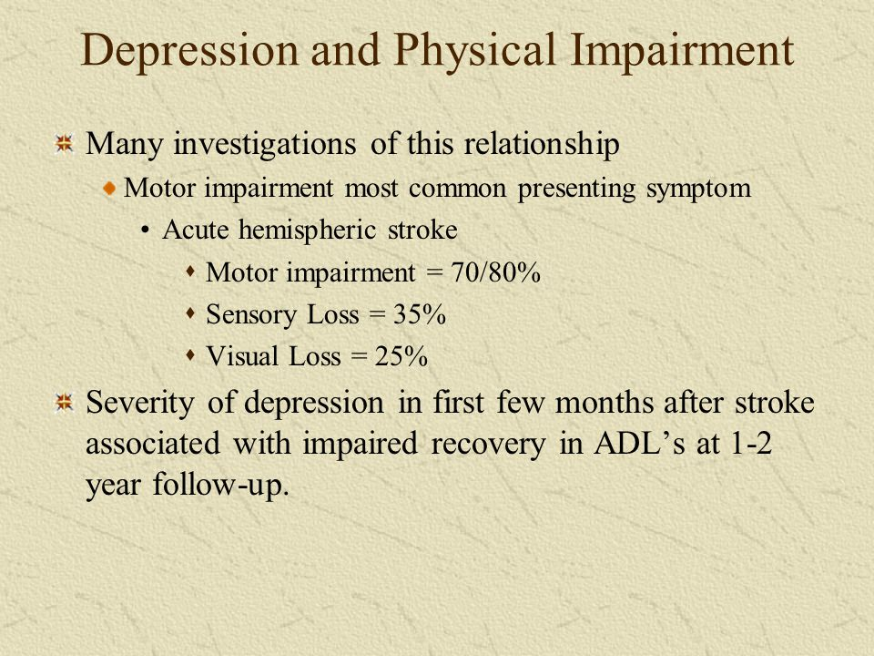Depression and Physical Impairment