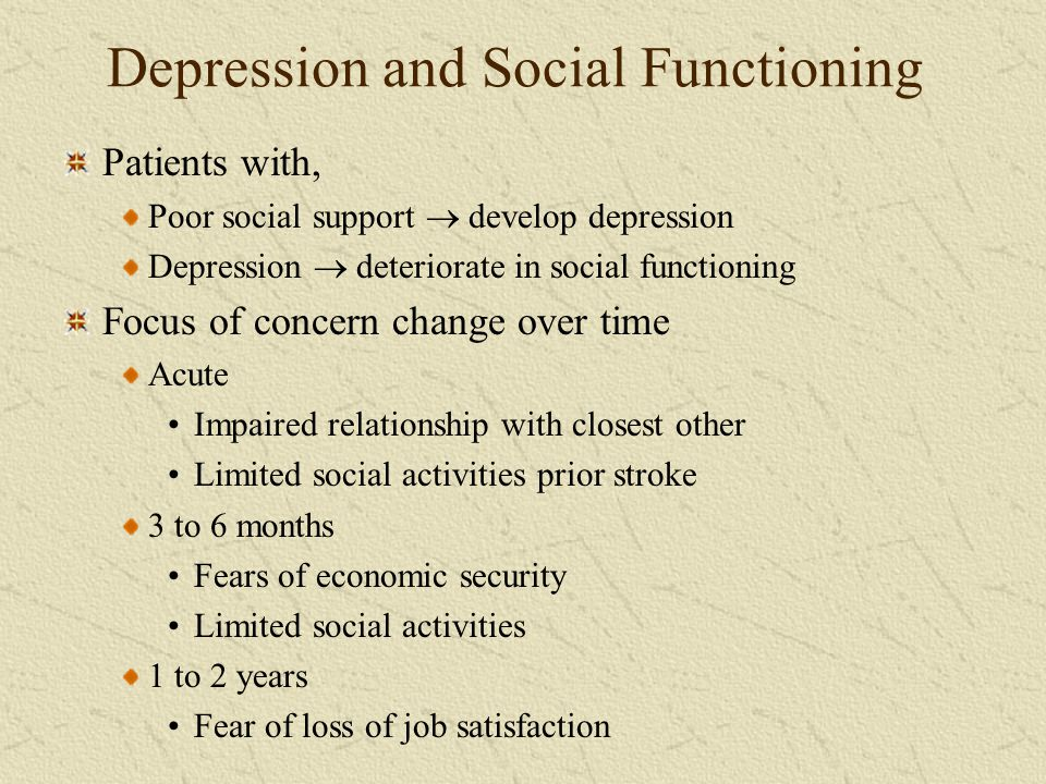Depression and Social Functioning