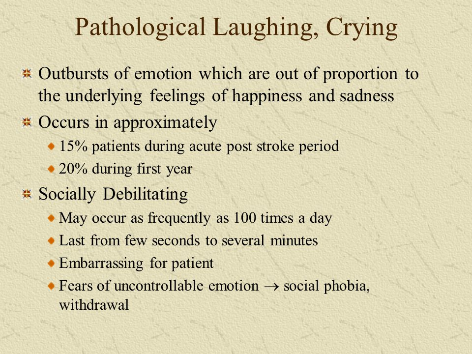 Pathological Laughing, Crying