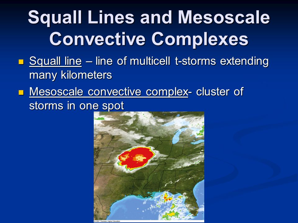 Squall Lines and Mesoscale Convective Complexes