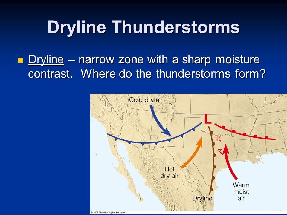 Dryline Thunderstorms