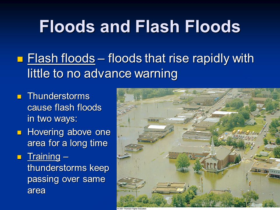 Floods and Flash Floods