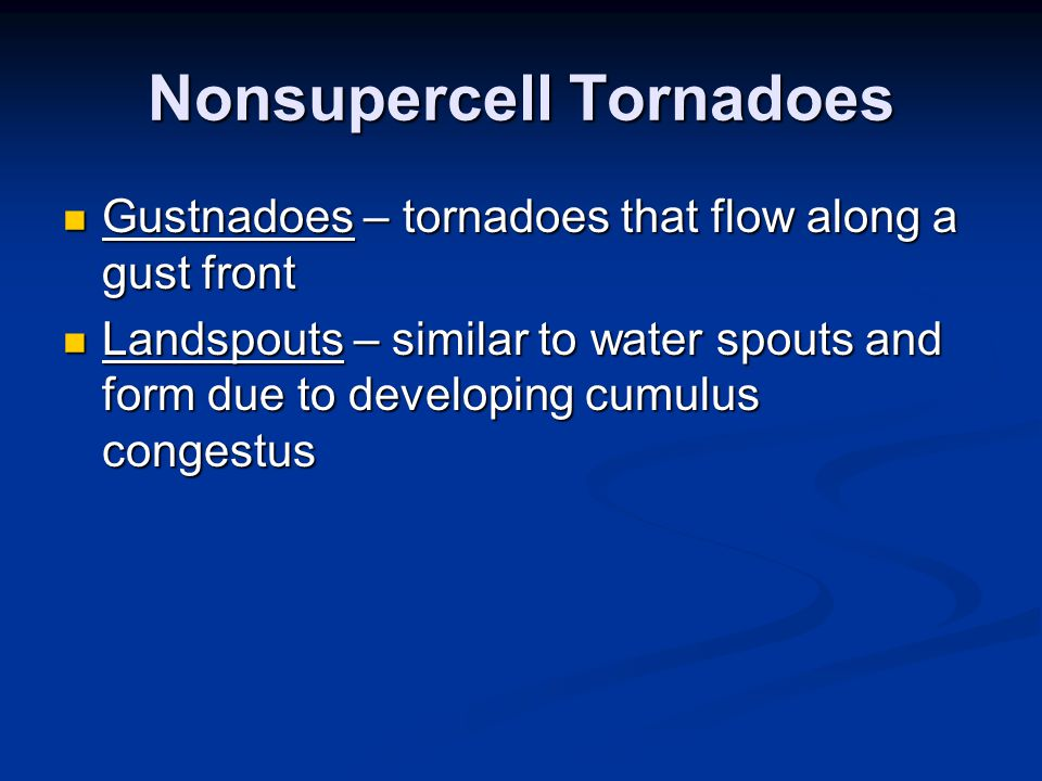 Nonsupercell Tornadoes