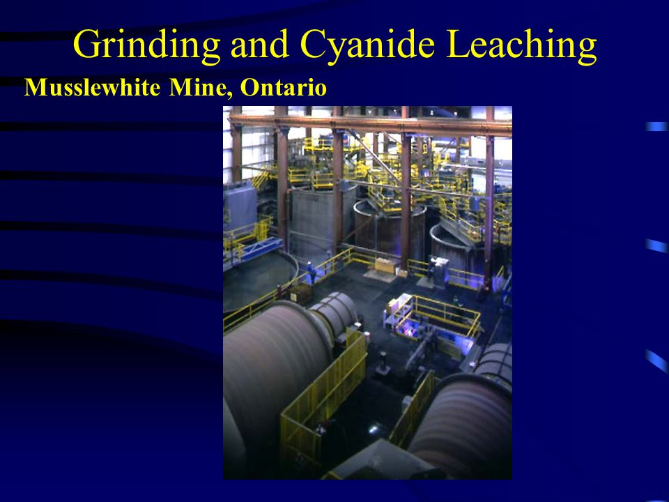 Grinding and Cyanide Leaching