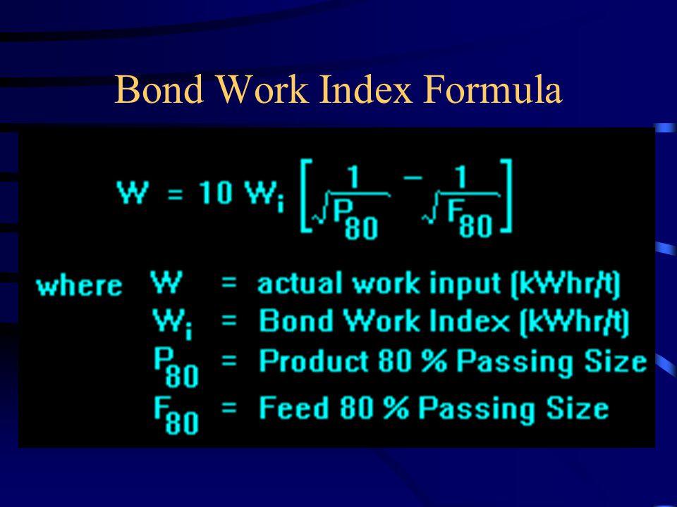 Bond Work Index Formula