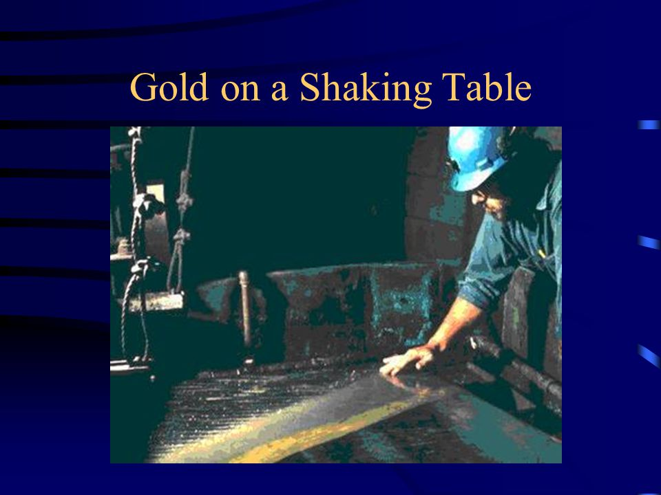 Gold on a Shaking Table