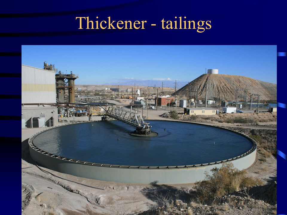 Thickener - tailings