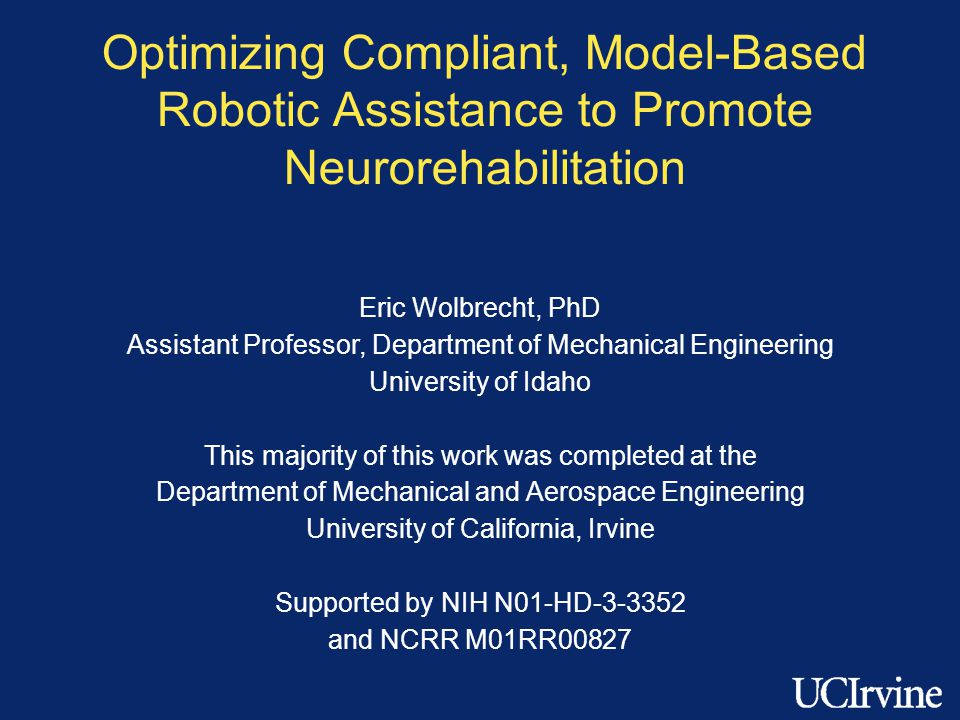 Optimizing Compliant, Model-Based Robotic Assistance to Promote Neurorehabilitation