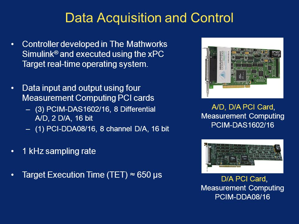 Data Acquisition and Control