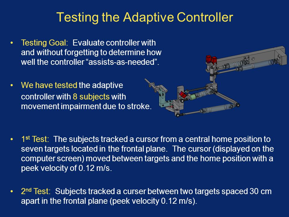 Testing the Adaptive Controller