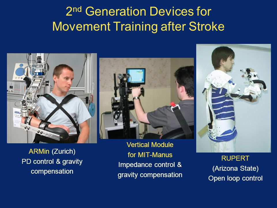 2nd Generation Devices for Movement Training after Stroke