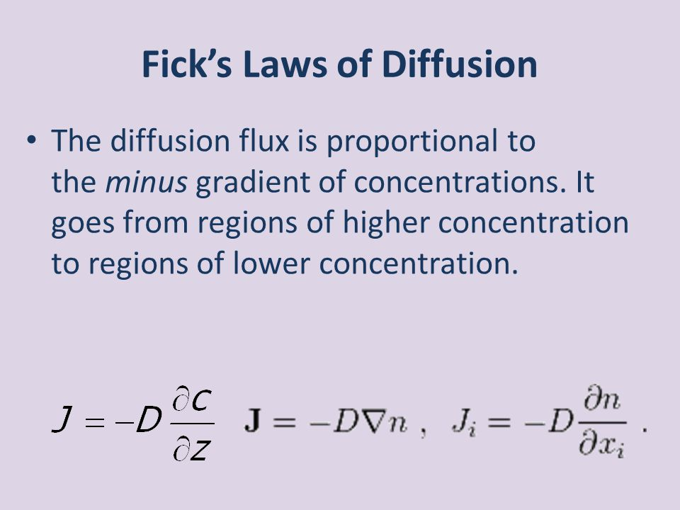 Fick's Laws of Diffusion