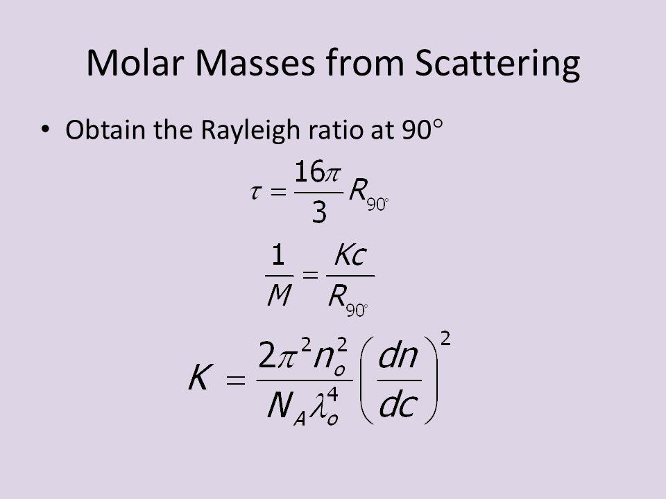 Molar Masses from Scattering
