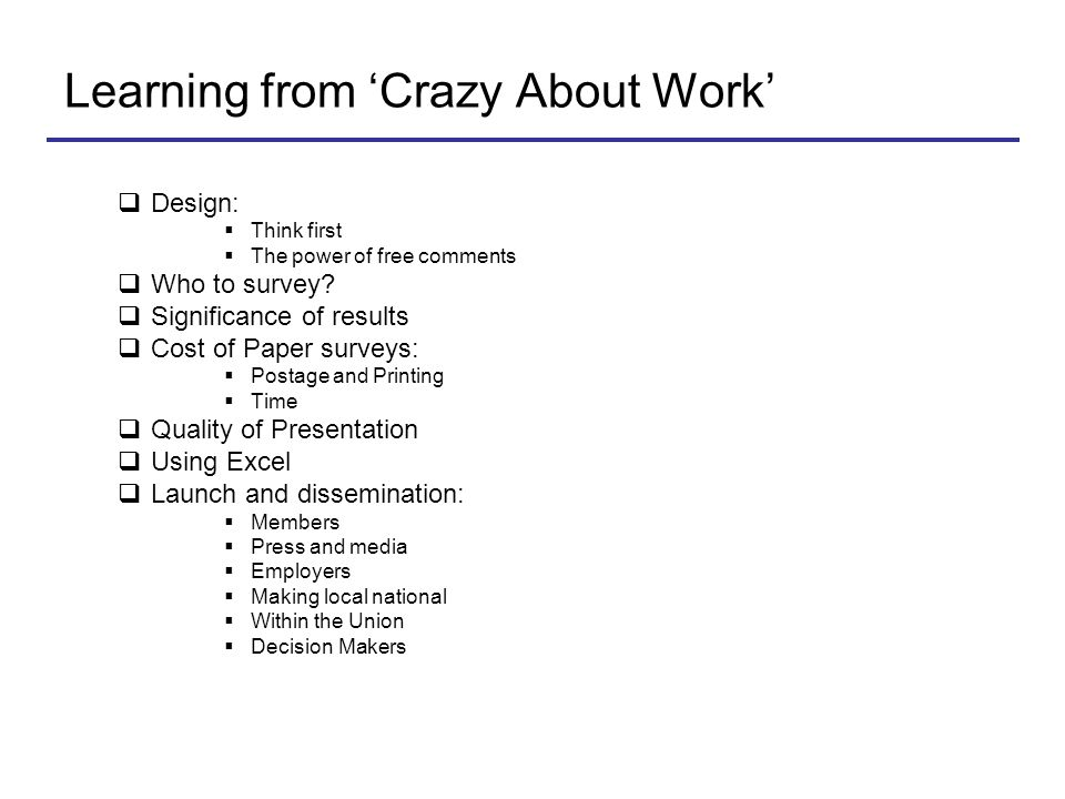 Learning from 'Crazy About Work'