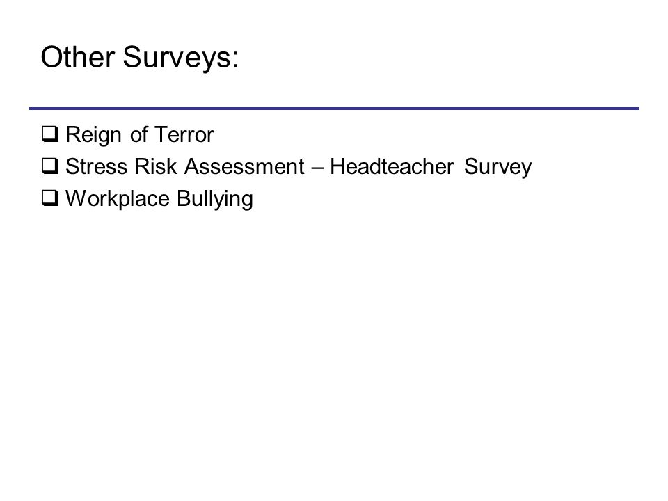 Other Surveys: Reign of Terror