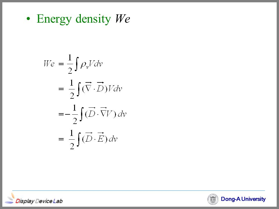 Energy density We