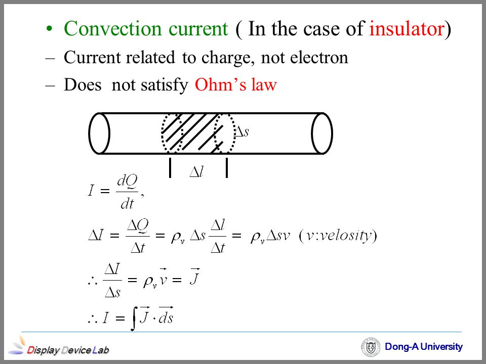 Convection current ( In the case of insulator)