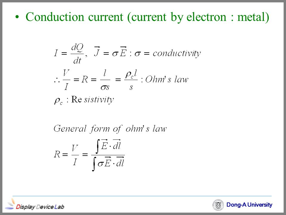 Conduction current (current by electron : metal)
